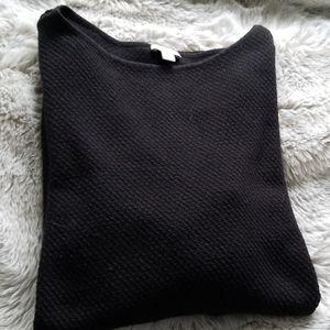 Black Cotton Blend Tunic